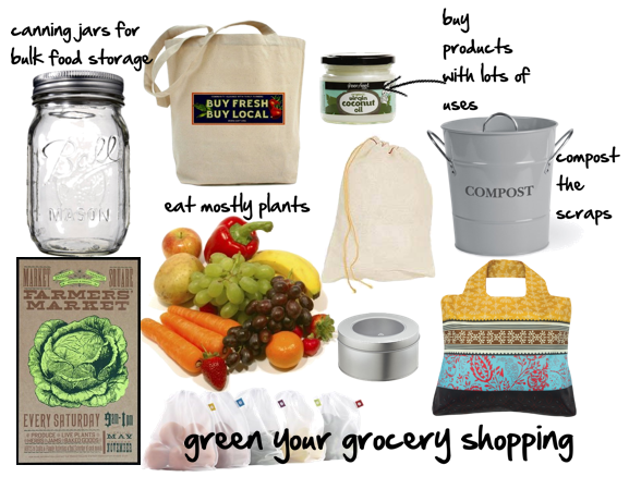 Green your grocery shopping